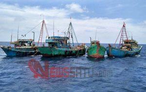 Belasan Kapal Asal Vietnam Ditangkap Bakamla RI