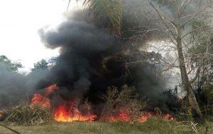 Gudang Penyimpanan Minyak Di Jambi Terbakar