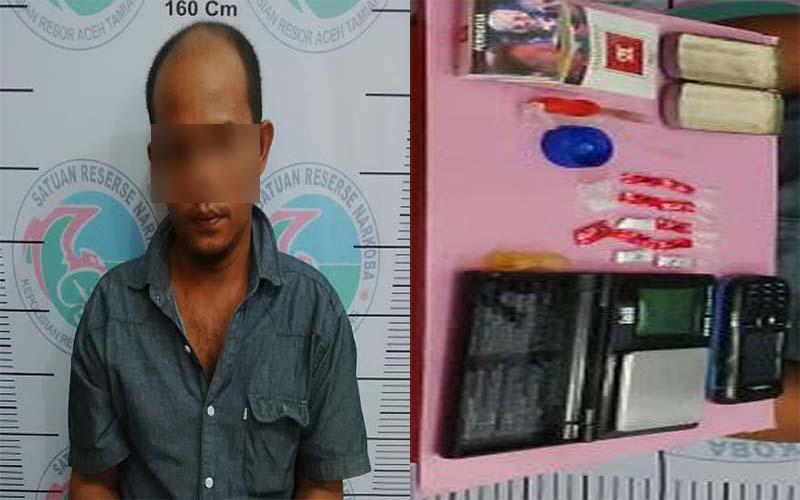 Diduga Jadi Pengedar Narkoba, Warga Perdamaian Ditangkap Polisi