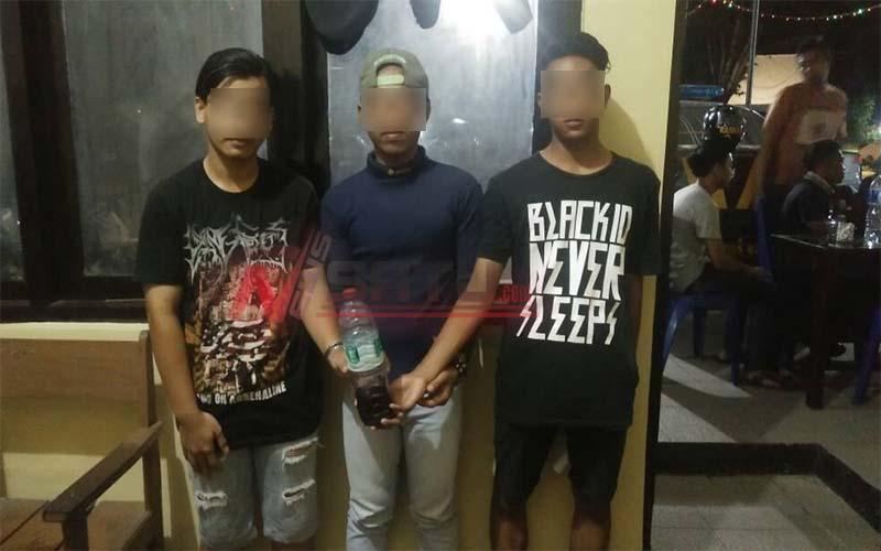 Pesta Miras, Tiga Pemuda Diamankan Polres Sumenep