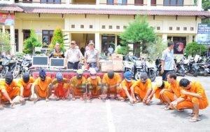Polres Langsa Aceh, Ringkus 14 Pelaku Kriminal