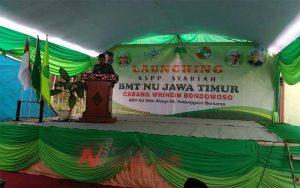 Sambutan Bupati Bondowoso Drs.H.Amin Said Husni, Saat Launcing KSPP Syariah NU Jawa Timur Cabang Wringin
