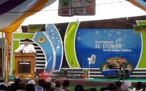 Ketua DPRD Bondowoso, H Ahmad Dafir saat sambutan pada acara ikhtibar Ponpes al-usmani