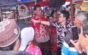 Ketua DPRD Kota Malang, Arief Wicaksono Saat Sidak Ke Pasar Merjosari