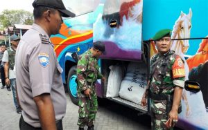 TNI Polri Di Kota Mataram Lakukan Pengecekan Di Terminal