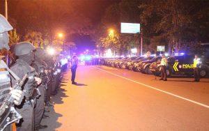 Jaga Kamtibmas Di Bulan Ramadhan, Polres Bondowos Gelar Show Of Force