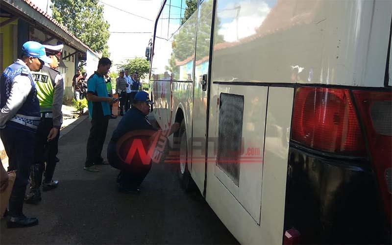 Mudik Lebaran, Tim Gabungan Uji Kelayakan Angkutan Umum Di Sumenep