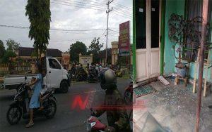 Polres Bondowoso Musnahkan Disposal, Sejumlah Kaca Rumah Warga Pecah