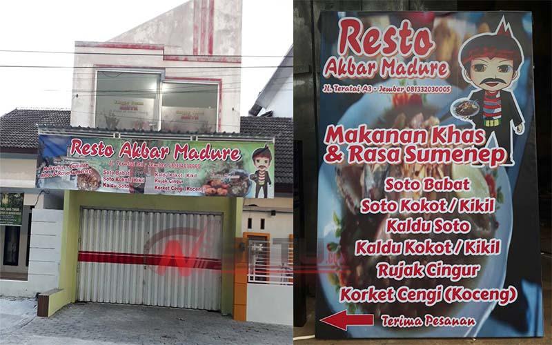 Resto Akbar Madure Di Jember, Sajikan Kuliner Khas Sumenep