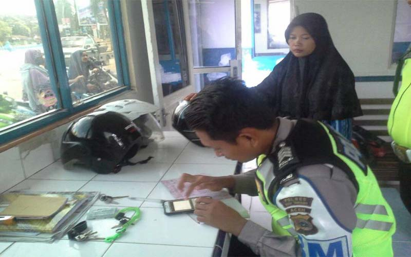 Terjaring Razia, Para Pengendara Di Aceh Tamiang Diberi Sanksi E-Tilang