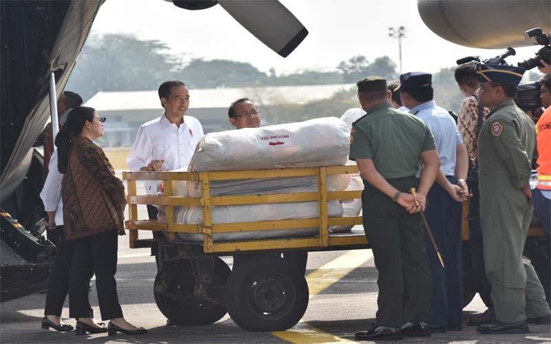 Presiden Jokowi Lepas Keberangkatan Empat Pesawat Bantuan Bagi Pengungsi Rohingya Di Bangladesh