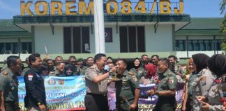 HUT TNI Ke 72, Ini Kejutan Dari Kapolrestabes Surabaya Pada Korem 084