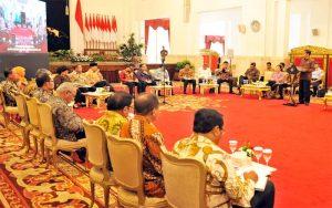 Presiden Jokowi; Menteri Kabinet Dan Panglima TNI, Serta Kapolri Tidak Berbuat Gaduh (Foto : setkab.go.id)