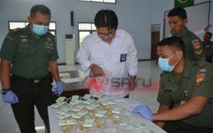 Ratusan Anggota Makorem 071 Wijaya Kusuma Di Tes Urine