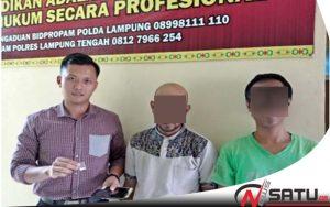 Simpan Narkoba, Dua Warga Lampung Tengah Diamankan Polisi