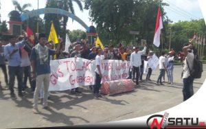 Tolak UU MD3, GMS Demo Kantor DPRD Sumenep