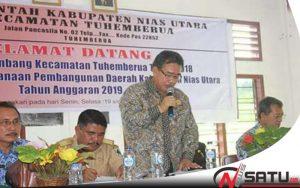 Wakil Bupati Nias Utara Buka Musrenbang Kecamatan Tuhemberua
