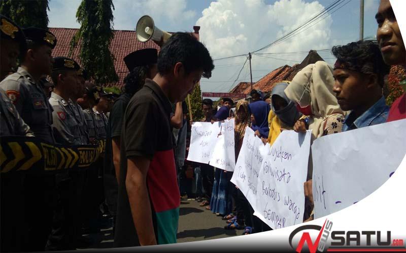 Aktivis Gempar Demo Disparbudpora Sumenep