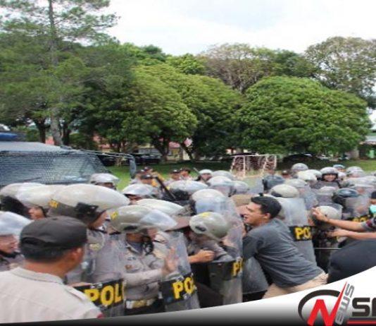 Polres Lampung Barat Gelar Simulasi Pengamanan Pilkada 2018