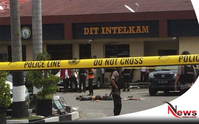 Polda Riau Diserang Sekolompok Pelaku Teror
