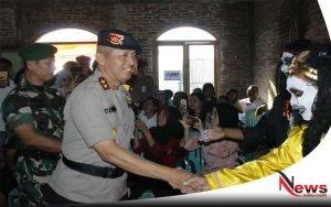 Polrestabes Semarang Tinjau TPS Bertema Horor