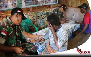 TNI Gelar Pemeriksaan Kesehatan Gratis Pada Warga Papua