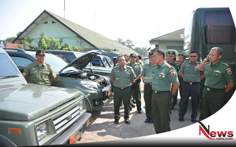 Antisipasi Terjadi Kecelakaan, Danrem Cek Kendaraan Dinas