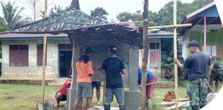 Bangun Ornamen, Wujud Kedekatan Satgas Raider Dengan Warga Papua