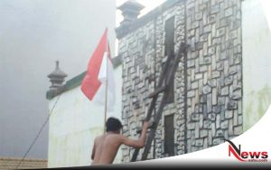 Bendera Di Markas Eks Kodim Sidoarjo Diturunkan