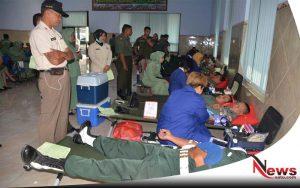 Jelang Peringatan HUT, Korem 082 CPYJ Sumbangkan Ribuan Darah
