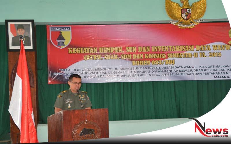 Korem 083 BDJ Laksanakan Pembinaan Tata Ruang Pertahanan Darat