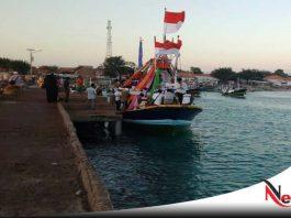 Naik Haji, Warga Pulau Gili Ketapang Probolinggo Naik Perahu Hias