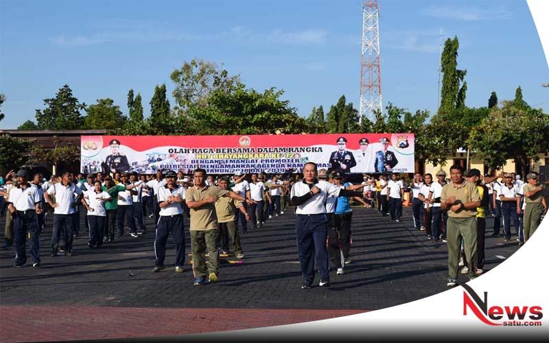 Perkuat Sinergitas, TNI Polri Gelar Olah Raga Bersama