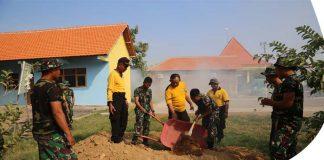 Sinergitas TNI-Polri Gelar Gotong Royong