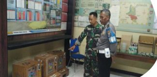 TNI Dan Polres Kediri Grebek Judi Dingdong