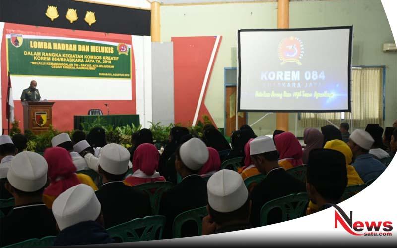 Pemuda Surabaya Ikuti Lomba Kreatifias Di Makorem 084 Bhaskara Jaya