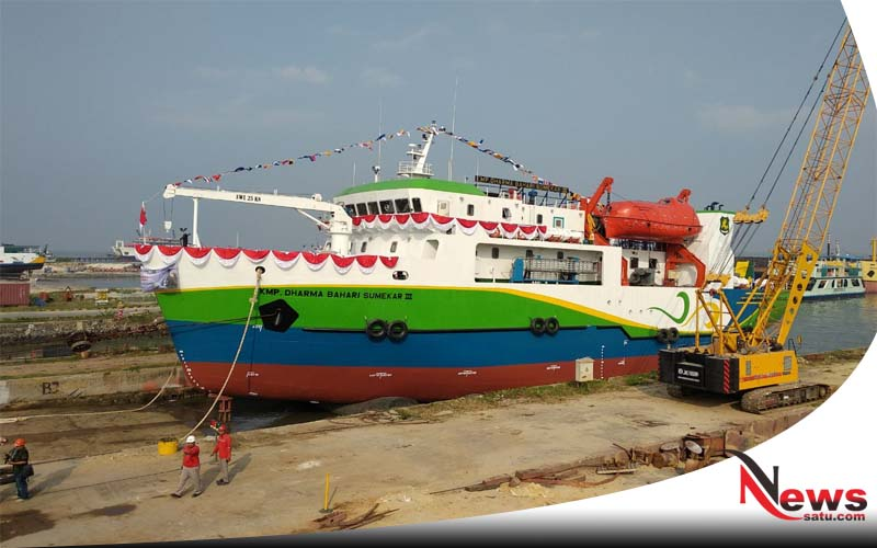 Penuhi Janji Pada Warga Kepulauan, Wabup Sumenep Launching Kapal DBS III