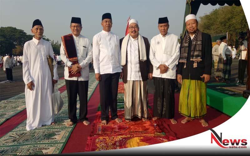 Ribuan Warga Ikuti Sholat Idul Adha di Makodam V Brawijaya