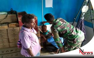 TNI Pastikan Perkembangan Kesehatan Balita di Perbatasan Papua
