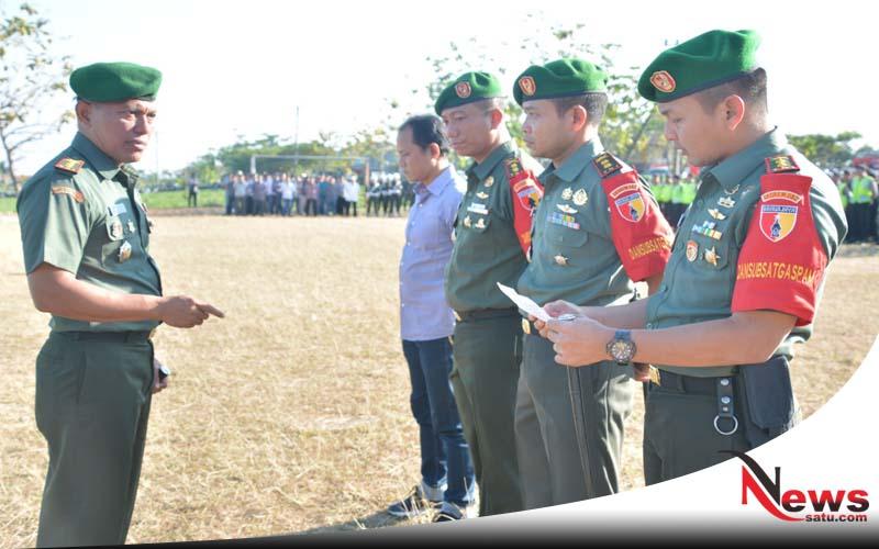 Danrem 082 CPYJ Kawal Kunjungan Presiden RI Di Mojokerto