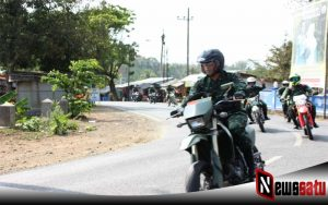 Menggunakan Trail, Danrem 083 Baladhika Jaya Tinjau Wilayah Malang Selatan