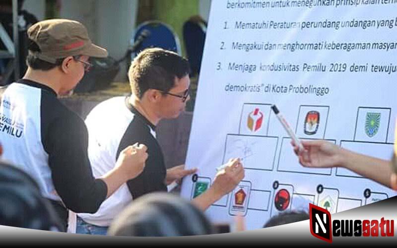 Pemilu Damai, Bawasalu Kota Probolinggo Warning Semua Peserta Pemilu