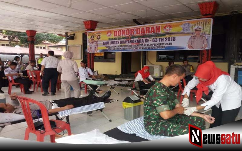 Polres Ogan Komerin Ilir Gelar Kegiatan Donor Darah