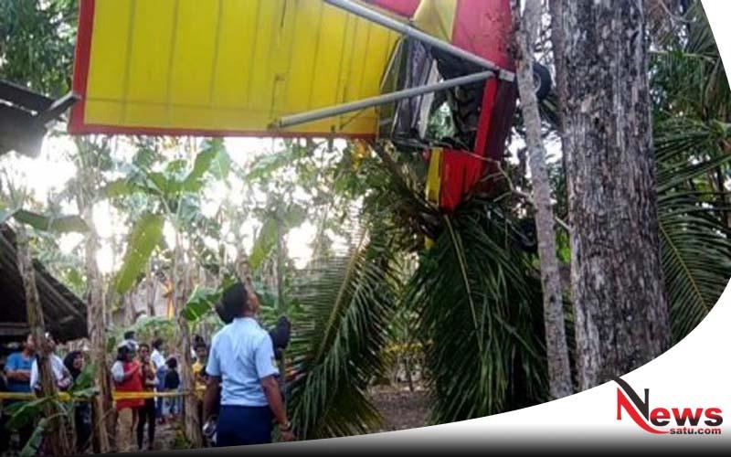 Warga Gunungkidul Yogyakarta Digegerkan Dengan Jatuhnya Pesawat PK S-S160