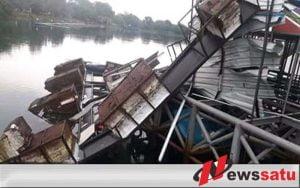 Diterjang Angin Kencang, Stasiun DJKA LRT Di Palembang Rusak