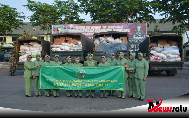 Persit Kartika Chandra Kirana Kodam Brawijaya, Kirim Bantuan ke Palu