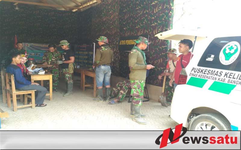 TNI Gelar Pengobatan Gratis Pada Warga Bangkalan