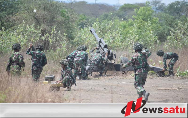 3 Matra TNI Latihan Bantuan Tembakan Terpadu Di Situbondo