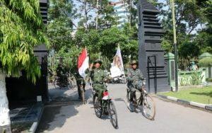 Komunitas Sepeda Kuno Patriot Sejati Datangi Korem 084 Bhaskara Jaya