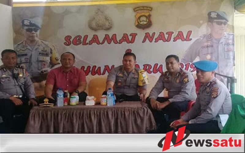 Kapolres Ogan Komering Ilir Pantau Kesiapan Pospam Natal Dan Tahun Baru 2019